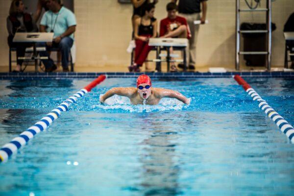 Schwimmer Wettkampf