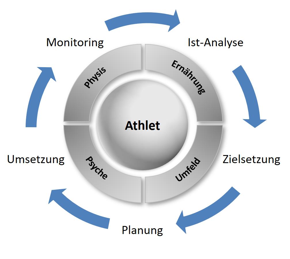Regelkreis der Trainingsplanung.