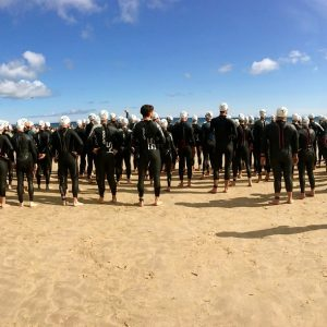 Triathlon Athleten am Strand