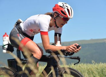 Athlet auf Rennrad