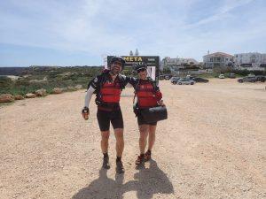 Kathi und Felix Transportugal Ziel